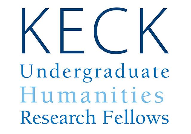 blue font reads Keck Undergraduate Humanities Research Fellows