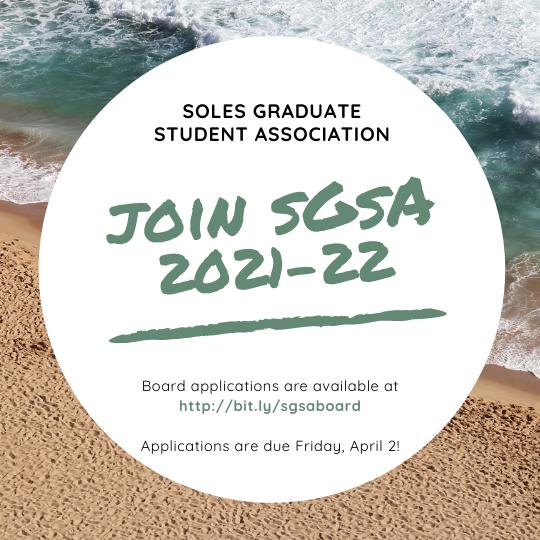 A flyer for SGSA board applications.
