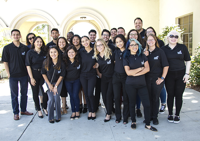 A group picture of the 2019 USD McNair Scholars cohort during Summer Research Colloquium event.