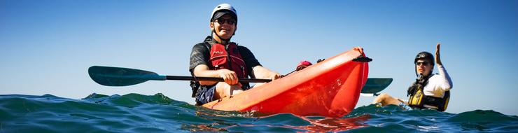 USD President Harris Kayaking